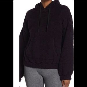 Zella Highland Cozy Faux Shearling Pullover NWT